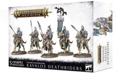 Warhammer. Age of Sigmar. Ossiarch Bonereapers Kavalos Deathriders​ настольная игра