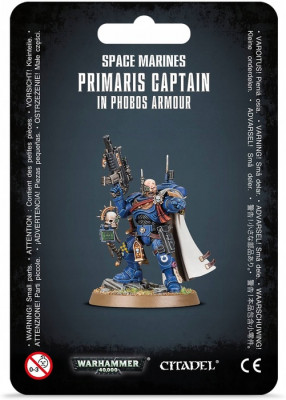 Warhammer 40,000. Space Marines Primaris Captain in Phobos Armour